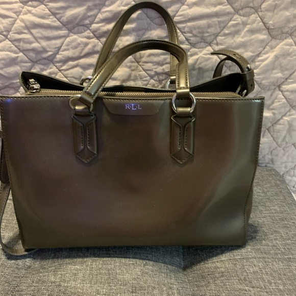 Ralph Lauren RRL Handbags - Ralph Lauren RLL dark gray handbag